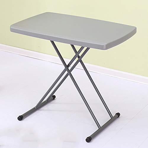 HJBH Hochwertiger Stahl + Kunststoff Klapptisch Höhe kann angehoben und gesenkt werden Einfache Haushalt Tisch Kleiner Tisch Esstisch Tragbarer Outdoor Tisch Stabile Größe: Länge 75 CM Breite 50 CM Ho - Kunststoff Breite Klapptisch