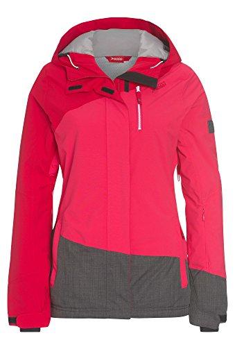 cke mit Kapuze - Damen Frauen Ski-Jacke warm Winter wasserdicht rot-grau,XXL (Xxl-damen-snowboard-jacke)
