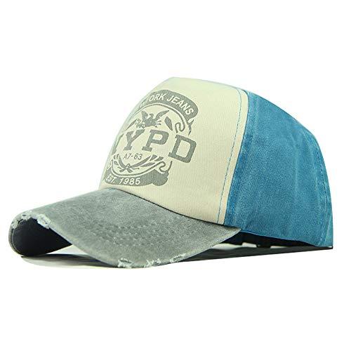 zhuzhuwen Baumwolle gewaschen Baseball Cap beschichtet Druck Hut Brief Sonnenhut Sonnenhut 3 56-62cm (Papier Matrosen Hut)