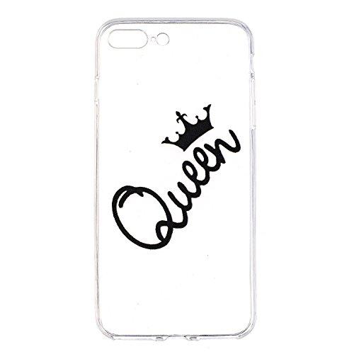 iPhone 7 Plus Coque, Voguecase TPU avec Absorption de Choc, Etui Silicone Souple Transparent, Légère / Ajustement Parfait Coque Shell Housse Cover pour Apple iPhone 7 Plus 5.5 (Hamburger 01)+ Gratuit  Queen