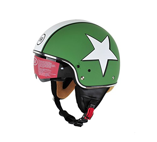 BHR Pure, Casco Uomo, Verde (Star Green), XL (59 cm)