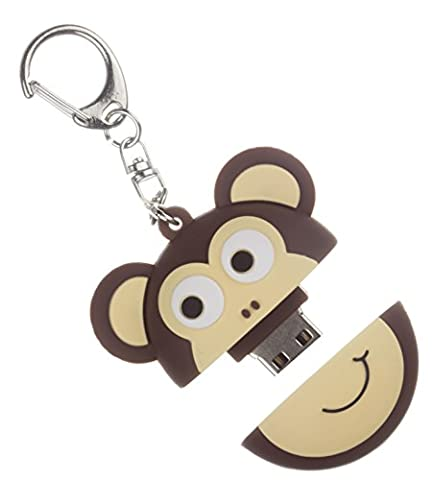 My Doodles 8 GB USB Fun Novelty Children's Character Flash Drive Memory Stick With Keyring Attachment Suitable for All Ages - Monkey