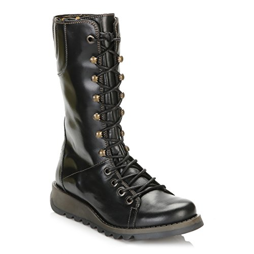 FLY London Damen Ster768fly Stiefel Schwarz (Black)