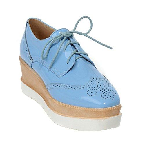 Donna Lacci Con Agodor Scarpe Blu qXdwqZyc1