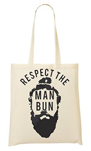 Respect The Man Bun Tragetasche Einkaufstasche