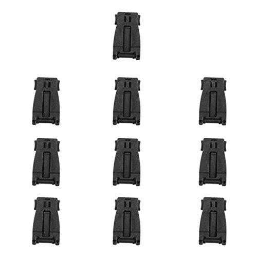 10pcs Schwarze Molle Gewebtes Material Verbindungsklammern Schnalle Rucksack Tasche Clip -