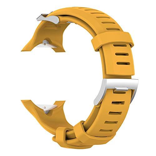 Dreamitpossible Silicone Wrist Strap Buckle for SUUNTO D6 Dive/D6I NOVO/D6I Zulu (Yellow)