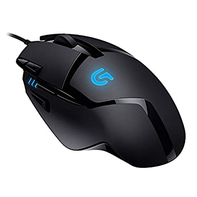 Logitech G402 Gaming Mouse Hyperion Fury with 8 Programmable Buttons, Black
