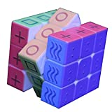 LCDP Blind Braille Cube Magic 3x3x3 Puzzle Juguete Impresión UV Cubos Cubo de Huellas Dactilares 3D en Relieve Personalidad Velocidad Cubo Competición Cubo Juego de Cerebro Pandora