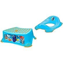 Juego de 2Disney findet Dorie Azul Tapa de inodoro accesorio + taburete Trainer