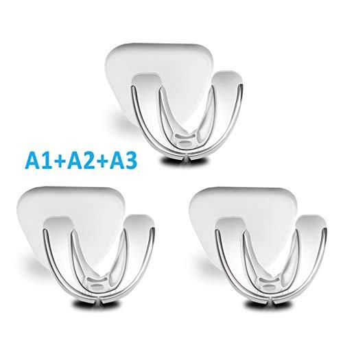 WYFDR Zähnen kieferorthopädische Halter, 3pcs Mahlen Protector Zahn Gerät Ausrichtung Klammer Mundstücke, Schlaf-Biss-Schiene