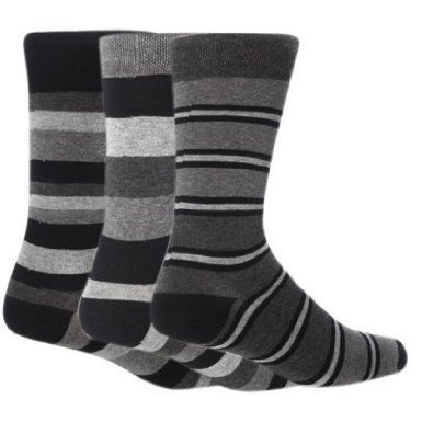 HDUK TM - Chaussettes basses - - À rayures Homme Rouge Berlin