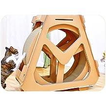 Muebles para Gatos Cinta De Correr Corrugado Rueda De La Fortuna Tablero del Rasguño del Gato