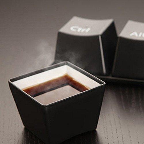 ADSIKOOJF 3 stück Kreative Tasse Tee-Set Tastatur Mode Tassen Schwarz Farbe Ctrl Del Alt 3 Stücke/Werbegeschenke Kaffeetasse Tassen Und BecherB