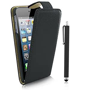 Kolay Flip Case Cover Stand/Screen Protector/Stylus Pen for Apple iPod Touch 5th Generation - Black