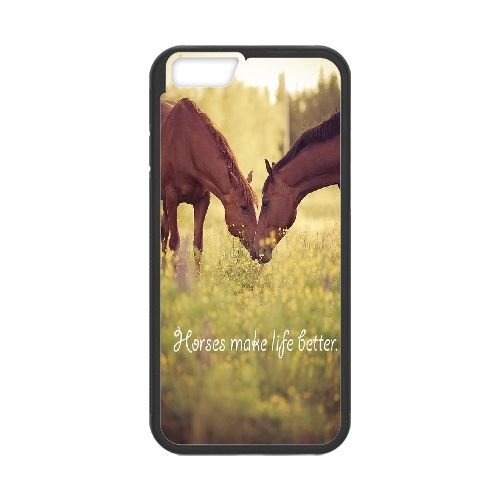 DIY Cover Case for iPhone 6 plus 5.5 w/ horse image at Hmh-xase (style 8)