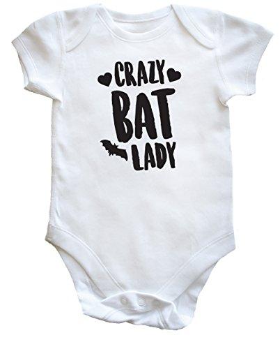 Bat Lady Baby Vest Bodysuit (Short Sleeve) Jungen Mädchen Gr. 92, weiß (Blinde Fledermäuse An Halloween)