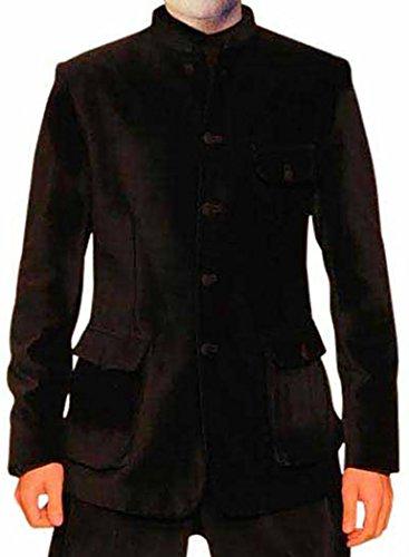 Velvet Smoking-hose (INMONARCH Attraktive Black Velvet Suit 2 Pc Jodhpuri JO195XL54 64 Extralang or 7XL (Höhe 190 cm + Oben) Schwarz)