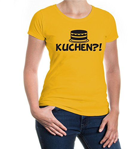 buXsbaum® Girlie T-Shirt Kuchen?! Sunflower-Black
