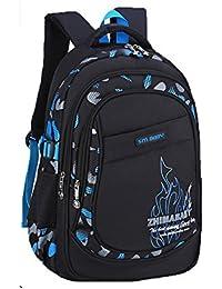 3055cb5ac8633 ZHIMABABY Kinder Schulrucksack Tasche für Jungen Mädchen Schulranzen Buch  Taschen Neutral Nylon Wasserdichte Leichte…