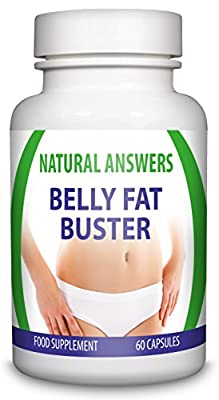 Maximum Strength Belly Fat Buster by Natural Answers - Slimming Body Waist Tablets - Appetite Suppressant Formula - High Quality Dietary Supplement - Quick Weight Loss Assistance Fat Burning Supplement - One Month Supply - Intense Metabolism and Energy Bo