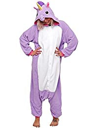 Adulte Unisex Licorne Pyjama Kiguruma Combinaison Vêtement de Nuit Cosplay Costume Déguisement Unicorn