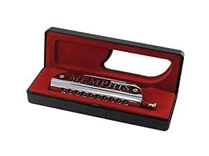 Memphis MH - 007A Harmonica chromatique 10 trous en do