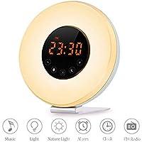 Xiuxiu Alarmuhr Wake Up Light-Sunrise/Sunset Simulation Table Bedside Lamp Eyes Protection Mit UKW-Radio, Nature... preisvergleich bei billige-tabletten.eu
