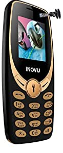 Inovu A1S+ Dual Sim Mobile Phone (Black-Gold, Upto 32GB)
