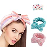 Mk Cute Big Bow Dot Soft Towel Hair Band Wrap For Bath Spa - Assorted Color& Design