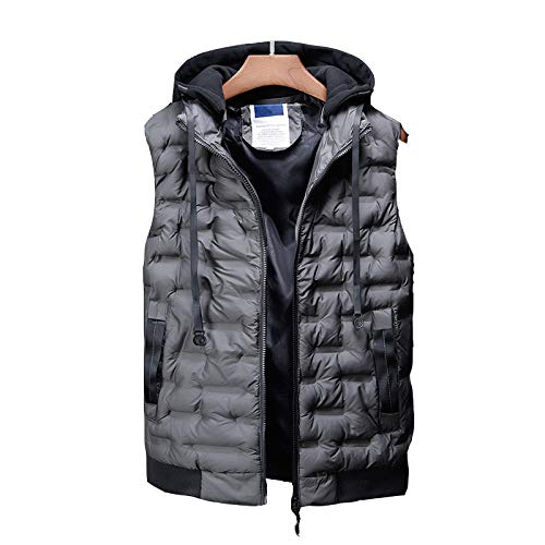 4144EhBWqYL. SS500  - DZX Men's Electric Warm Gilet/Heating Vest,with USB Cable - For Outdoor Travel Work Camping Bike And Skiing,Black-2XL