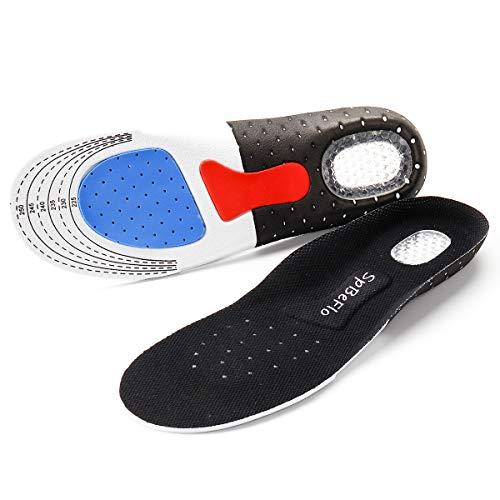 SpBeFlo Gel Einlegesohlen Fersensporn, Gelsohlen Schuheinlagen Schweißfüße gegen Druckschmerz für Alltag Sport Outdoor, 1 Paar,  (Größe L für 41-46)