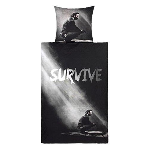 The Walking Dead Bettwäsche (Wendebettwäsche), 1 x Kissenbezug 80 x 80 cm und 1 x Bettbezug 135 x 200 cm, 100 % Baumwolle mit Reißverschluss