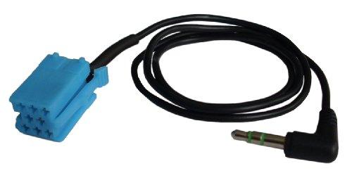 AUX IN mit 3,5mm Klinkenstecker für AUDI, SEAT, SKODA & VW (8Pin Mini-ISO Version) #AX0083W9#
