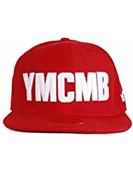 Casquette snapback YMCMB rouge, blanc