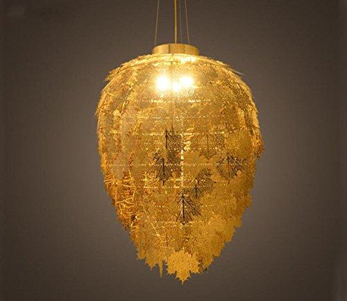Suspensions Fer LED simple feuille d'érable pendentif lumières/lustres pour salon chambre à coucher Restaurant, Diamètre 32 * haute 50cm