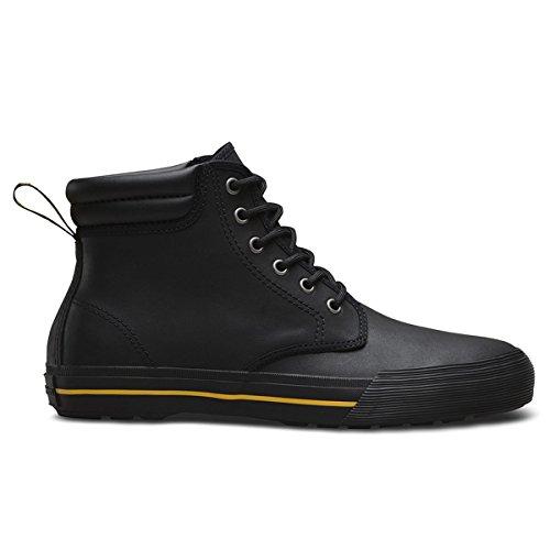 Dr.Martens Mens 6-Eyelet Eason Greasy Lamper Black Leather Shoes 44 EU (Eyelet Boots Ankle)