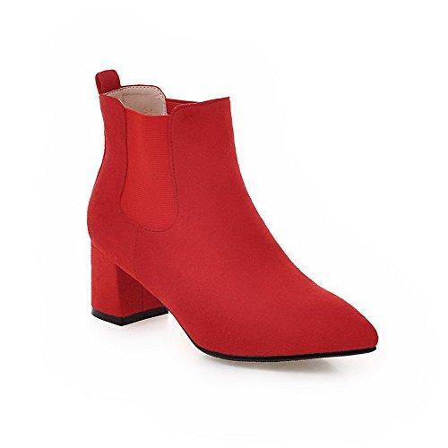 A&N ,  Damen Durchgängies Plateau Sandalen mit Keilabsatz, rot - rot - Größe: 34 (Womens Bamboo Riding Boots)
