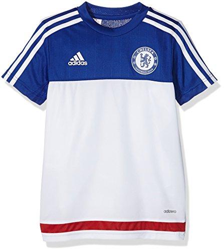 adidas Jungen Kurzarm Trikot FC, White/Chelsea Blue/Power Red, 176, AC4962 (Chelsea Trikot Training)