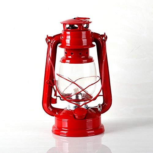 WXQDD-Candlestick 25 cm Retro Klassische Petroleumlampe Dimmbare Petroleumlampe Auslaufsichere Dichtung Qualität Tragbare Outdoor Camping Lichter Schmuck 5 Farbe, 3 -