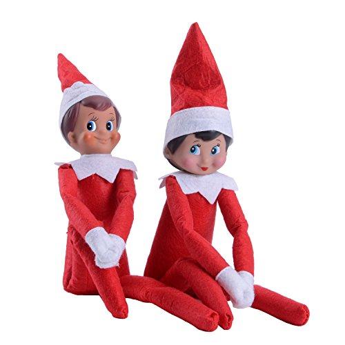 QITAO® Baby Doll New Weihnachten Red Boy Red Mädchen Weihnachtsmann Abbildung Spielzeug Elf auf dem Regal Plüsch Puppe Magic Xmas Gift