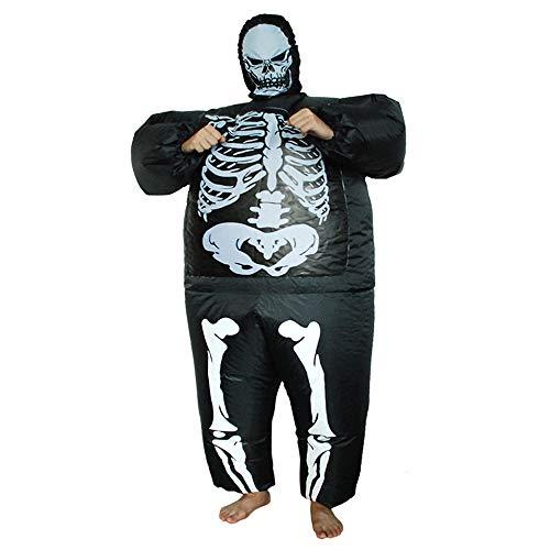 Yonji Tuta Halloween gonfiabile scheletro per adulti, rave party horror puntelli fantasma festival Cosplay outfit