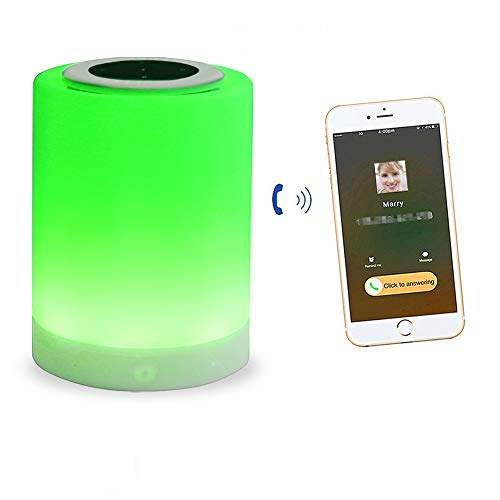 Buntes Nachtlicht Mit Bluetooth-Lautsprecher Touch-Sensor Dimmbare LED-Nachtlicht Weiche Leichte Nachttischlampe, Tischlampe Stimmung, Frau, Mädchen, Bestes Geschenk