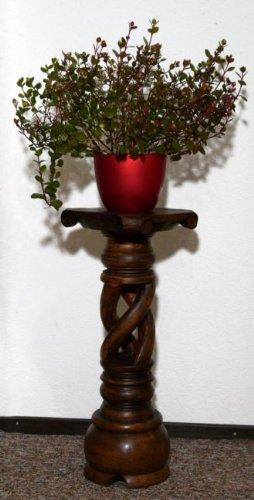 floristikvergleich.de Blumensäule Holz Blumenständer Blumentisch BLST03