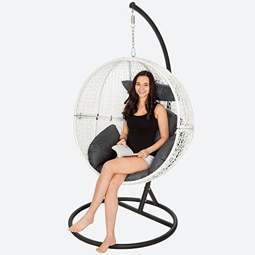 TecTake Chaise hamac avec support fauteuil suspendu de