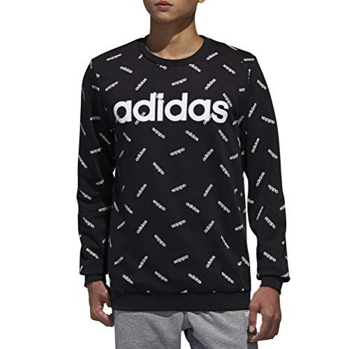 adidas Herren Allover Print Sweatshirt, schwarz/weiß, L