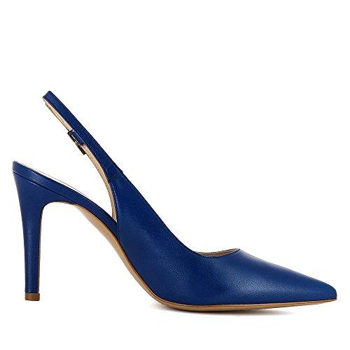 Blau donna Natalia Evita tacco Shoes Scarpe col nqYBP41Pw