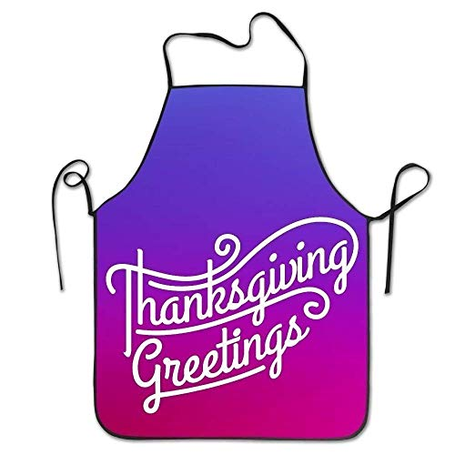 ERCGY 2019 Apron Personalized Aprons Thanksgiving Day Lock Edge Unisex Cooking Apron
