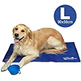Sunshine Dreams Chew Resistant Dog Cooling Mat Large 90x50 cm | Durable, Non-toxic gel self cooling mats | Keeps pets cool