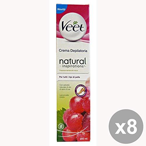 Set 12 VEET crema depilatoria natural todo tipo piel